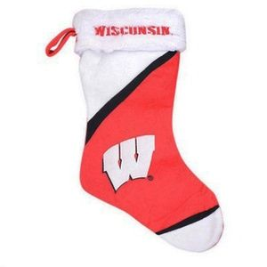 Wisconsin Badgers Color Block Christmas Stocking